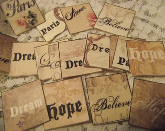 Stick Cards Small One Inch For Card Making   Scrap Booking  Party Favors