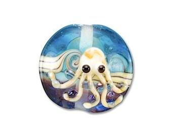 10 pieces 20mm Octopus Lampwork Glass Beads, Sea Creature, Ocean Beads