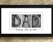 DAD - Gift for Dad, Alphabet Art Photography, Personalized Gift for Dad, Gift for Papa, Dad Sign