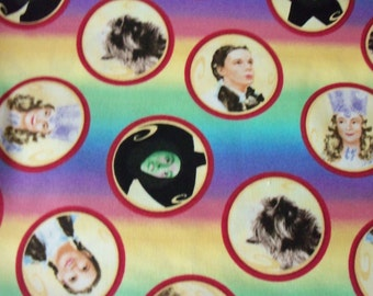 Wizard Of Oz Fabric Rainbow Circles All The Characters By The Fat Quarter New BTFQ