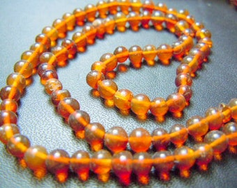 Russian amber Round Ball Smooth Beads AAA Quality  size 3 to 4MM  Approx 14 inches Wholesale Price