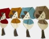 Animal Scarf, Funny Animal Fox, Unisex, Boy Girl Teens, Women,knit scarves,2014 Trending, christmas gift