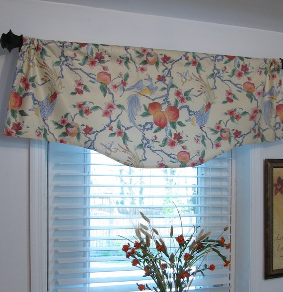 Thibaut Country Cottage Colorful Window Treatments Shaped Curtain Valance READY to SHIP! Handmade in the USA