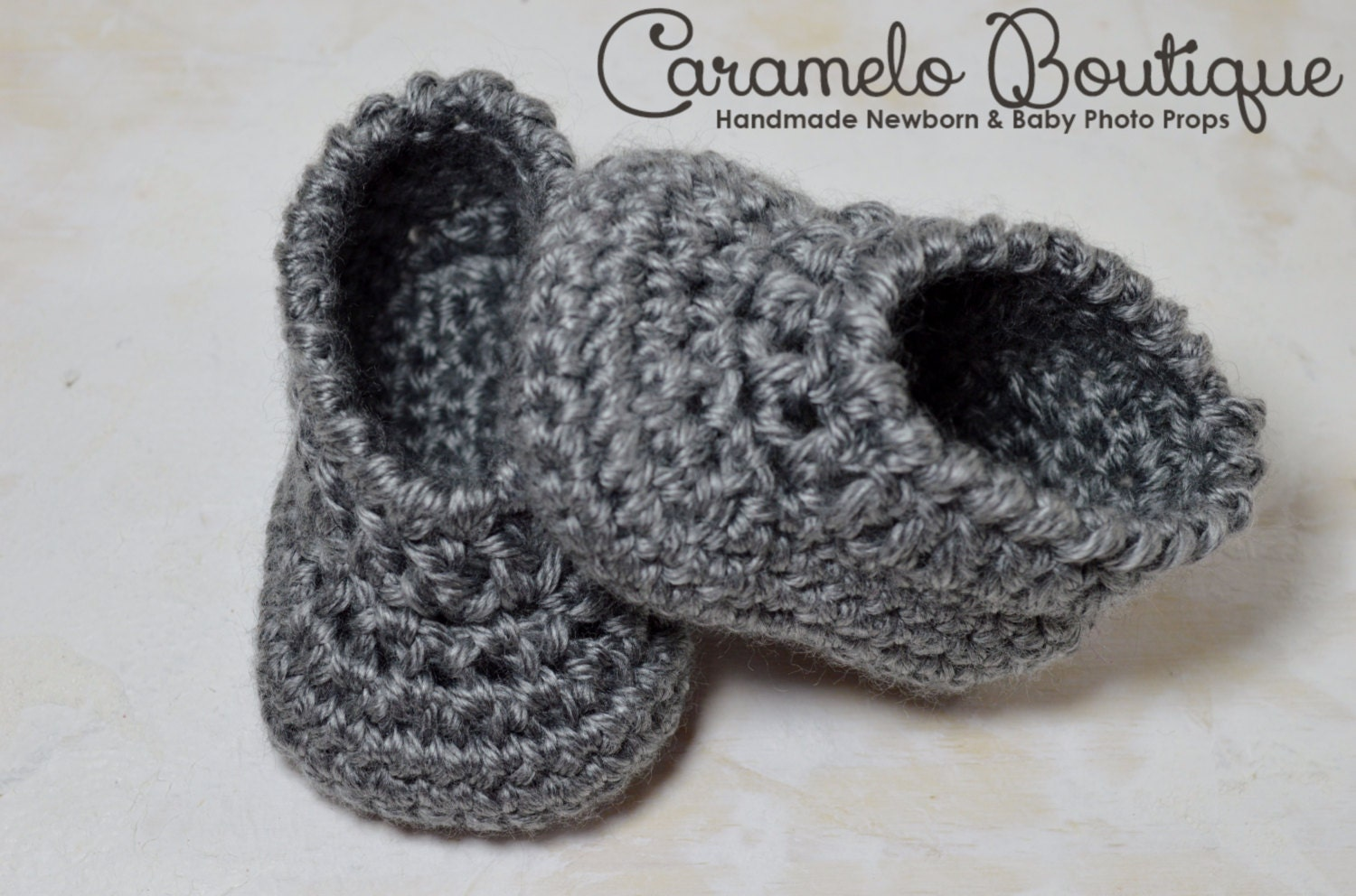 Crochet Gray Baby Boy Shoes Gray Baby Boy Loafers Gray Baby
