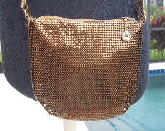Small Bronze Metal Mesh purse by Whiting and Davis