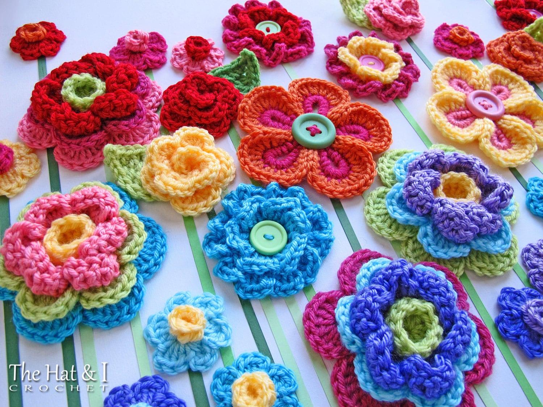 Crochet pattern floral fantasy 5 colorful crochet flower zoom bankloansurffo Images