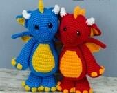 Felix the Baby Dragon Amigurumi - PDF Crochet Pattern - Instant Download - Amigurumi crochet Cuddy Stuff Plush