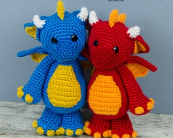 Felix the Baby Dragon Amigurumi - PDF Crochet Pattern - Instant Download - Amigurumi crochet Cuddy Stuff Plush