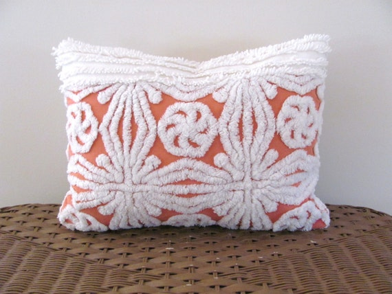 burnt orange pillow cover FROSTED PUMPKIN 12 X 16 terracotta cushion cover cottage chic autumn