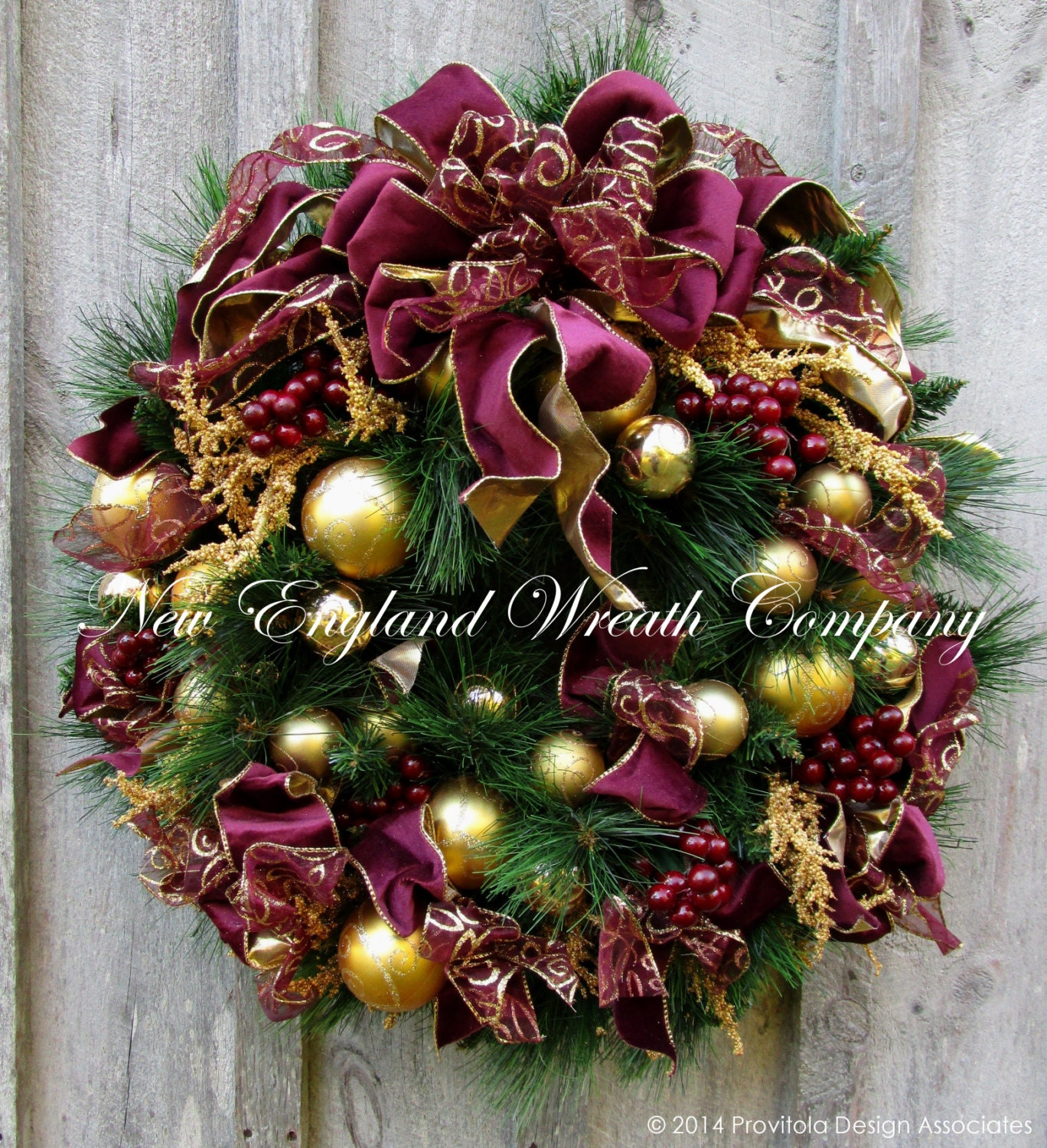 Christmas Decorations In Victorian England: Christmas Wreath Holiday Wreath Designer Victorian