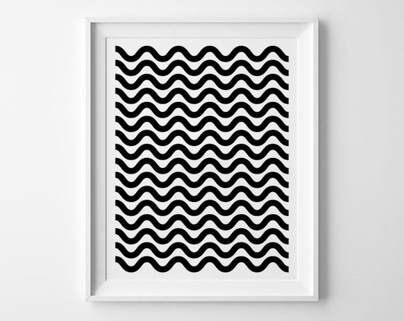 Black And White Nursery Wall Decor : Nursery wall art geometric pattern black and white