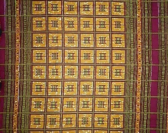 African Print Fabric sold by panel