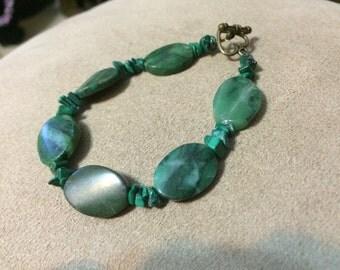 Beautiful Green Stone Bracelet