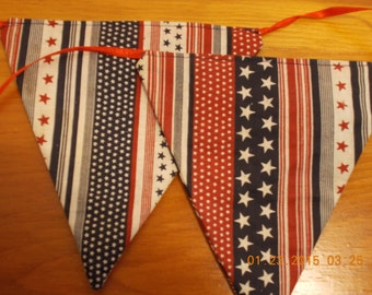 red, white and blue, stars and stripes banner