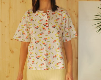 90's Tshirt Fruits  Print