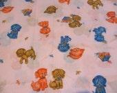 Vintage Pink Puppy Dog Fabric