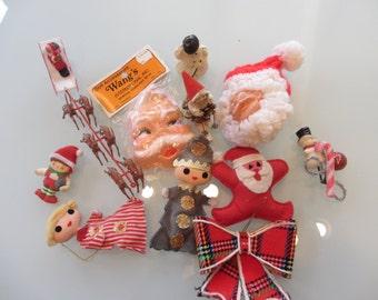 1960s Lot Christmas Ornaments