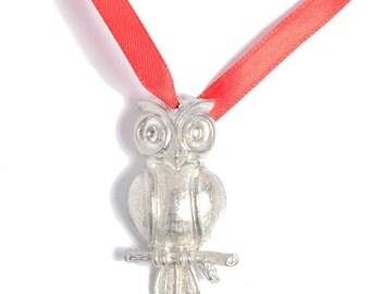Christmas Owl Tin Christmas Decoration - 10th Anniversary Gift Idea