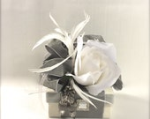 Vintage Wrapped Gift Box Jewelry Gift Box Gray Party Favors Gift Box Card Holder Wedding Gift Cards Bridesmaids, Decorative Boxes