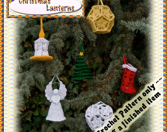PDF Crochet Pattern Christmas Lanterns