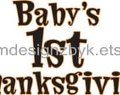 Baby's 1st Thanksgiving shirt iron-on decal