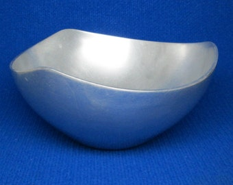 vintage NAMBE bowl number 527 . mixed metals . mid century modern .