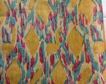 One yard of printed silk taffeta