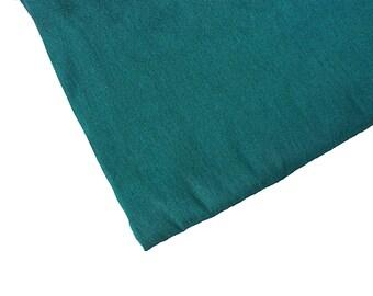 One yard of  teal dupioni silk blend