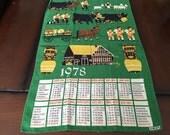 Vintage 1978 Calendar Dish Towel