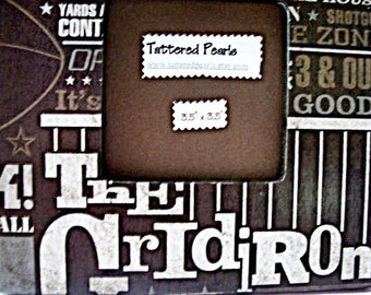 Football Fantasies Decoupaged Wood Picture Frame