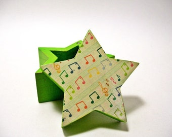Box Music Notes Decoupage