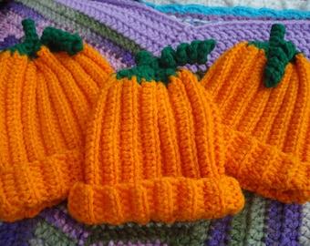 Pumpkin baby beanie hat 6-12 months