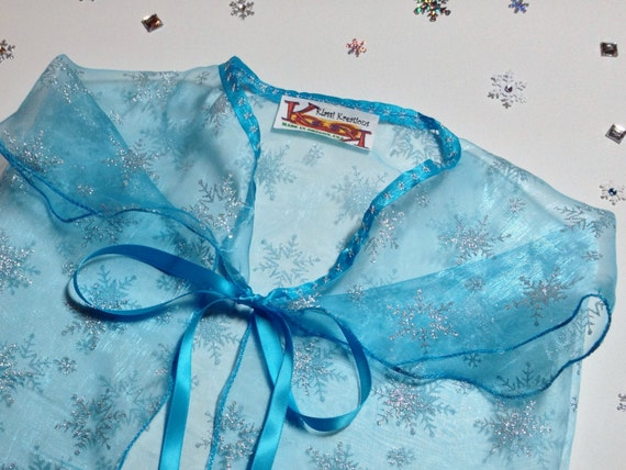 sILVER SNOWFLAKES Adorn this Elsa Frozen Inspired Cape  for Kids Just like Elsa on Frozen