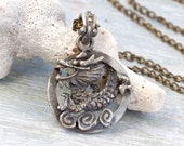 RESERVED for LISA - Pewter Dragon Necklace
