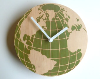 Objectify Globe Wall Clock - Medium Size
