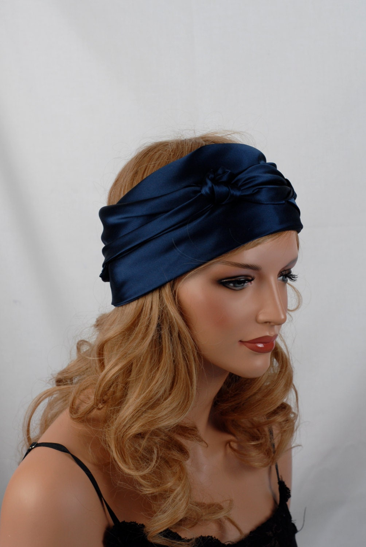 silk scarf sleep or bandana scarf sizes navy mulberry silk