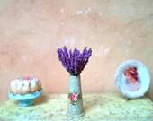 1/12 scale miniature dollhouse lavender.