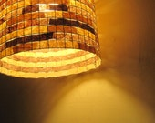 Pendant Lighting Chandelier Hanging Ceiling Light Drum Lampshade Lampada Coffee Filter Art