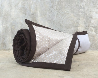 Padded Changing Pad w elastic strap / Easy to Clean / Dark Grey with Brown Accent / HighpantsBaby / mrHighpants