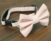 Cat Collar - Soft Pink - Matching Bow Tie and Flower Available