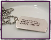 Personalized Dog Tag for Dad- SMALL DOG TAG- Men's sterling silver gift