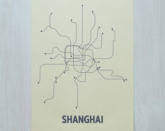 Shanghai Screen Print - Cement/Dark Gray