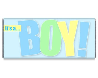 It's A Boy Baby Shower Favors It's a Boy Personalized Candy Bar Wrappers It's a Boy Chocolate