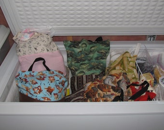 Fish, Fruits, and Vegetables Freezer Organizer Bags