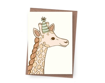 SALE Party Giraffe Birthday Card