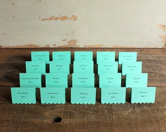 mint printed place cards for wedding, shower, party set of 100 - delaney