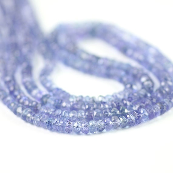 Faceted Rondelle Tanzanite: Tanzanite Micro Faceted Rondelles Full By SerendipityGemstones