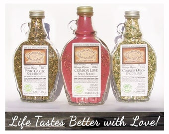 Artisan Spice Blends - Herb Spice and Veggie Blends - Gluten / Dairy-Free - Easy Real Whole Food Fast - Food Market Gift Set Herb Spice