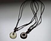 Glass Donut Pendant, surfer necklace, friendship pendants, Unisex pendant