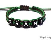 Personalized Name Bracelet, Boy Bracelet, Macrame Cord Bracelet, Friendship Bracelet, Kids Jewelry, Baby Boy Bracelet, Boy Jewelry, Boy Gift